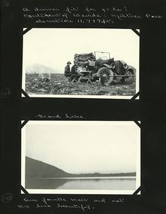 Edward and Margaret Gehrke scrapbook page, Rocky Mountain National Park, 1923