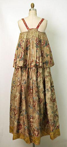 Dress Date: probably 19th century Culture: Russian Medium: silk, metallic thread
