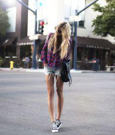 チェックシャツのおしゃれな着まわし術  [海外女性のコーデ集] - NAVER まとめ