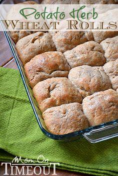 Easy Homemade Potato Herb Wheat Rolls Recipe Papadakos Papadakos - Mom On Timeout Bread Bun, Bread Rolls, Bread Recipes, Cooking Recipes, Muffin Recipes, Rolls Recipe, Sweet Bread, Crockpot, Food And Drink