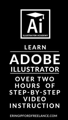 Learn Adobe Illustrator. Over two hours worth of step-by-step Illustrator Tutorials for Beginners.