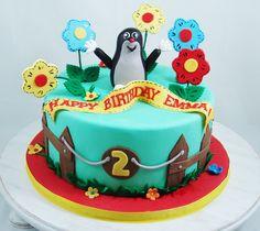 Little Mole Cake #LittleMoleCake, #BirthdayCakes, #ChildrensBirthdayCake, #FondantToppers