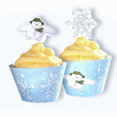 Party Ark's 'The Snowman Cupcake Wrappers & Picks'