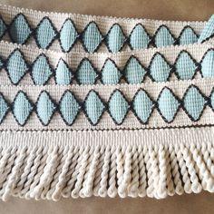 2in Natural Cotton bullion and Harlequin tape #fringemarket #passemterie www.fringemarket.com #trimming #textiles