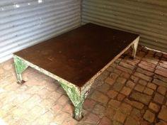 Industrial steel coffee table, www.oldsoul.com.au