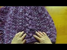 Πλεκτα με βελονες-ΠΟΝΤΣΟ ΜΕ ΚΡΟΣΙΑ KNITTING STITCH. - YouTube Youtube, Knitting, Tricot, Cast On Knitting, Stricken, Crocheting, Knits, Yarns, Stitches
