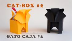 Origami tutorial on how to make an origami cat-box perfect as a Halloween candy box SUBTÍTULOS EN ESPAÑOL Designed by Leyla Torres/Gay Merrill Gross. • Leyla...