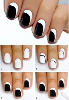 Nail Designs is a wonderful creativity to make your nails look stunning. It is excellent for Girls and women's who love growing pretty nail designs! Simple Nail Art Designs, Easy Nail Art, Nail Designs, Hair And Nails, My Nails, Jolie Nail Art, Black And White Nail Art, Gel Nagel Design, Nail Art For Beginners
