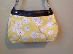 Citrus yellow with cherry blossoms SUITE by ShellyJayneCovers, $18.75