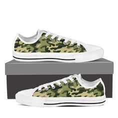 Camo Low Tops - Comfortable, stylish, affordable - Custom Made