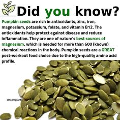 Who else loves pumpkin seeds?( - Eat more nuts and . Who else loves pumpkin seeds?( - Eat more nuts and seeds as a way to get more healthy fats, vitamins, and minerals into… Who Health And Nutrition, Health And Wellness, Health Tips, Smart Nutrition, Nutrition Classes, Cheese Nutrition, Nutrition Activities, Nutrition Guide, Health Articles