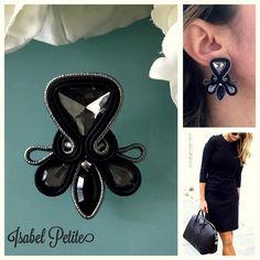 Shibori, Wallis Simpson, Grace Kelly, Soutache Necklace, Earring Trends, Beanie Boos, Polymer Clay Charms, Monster High Dolls, Black Earrings