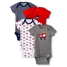 Gerber® Newborn Boys' 4 Pack Firetruck Onesie® 12 M Baby Outfits Newborn, Baby Boy Newborn, Baby Boys, Little Boy Outfits, Baby Boy Outfits, Target Baby, Gerber Baby, Fire Trucks, Clothing Items