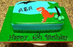 Dinosaur 6th Birthday cake