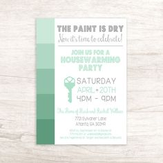 Front Door Double Sided Housewarming Party By Lilygramdesigns Invitations Gifts