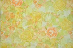 Vintage Sheet Fat Quarter - floral watercolor print