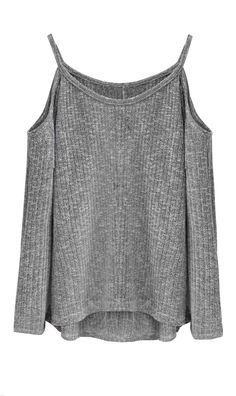 $23.99   Fashion Style Off Shoulder Sweater Grey Knit