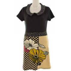 SMASH fekete színű virágos vastag ruha (Méret: XL) - Ruha mindennapokra - Öltözz ki webáruház - Új és Használtruha webshop Short Sleeve Dresses, Dresses With Sleeves, Mini, Fashion, Moda, La Mode, Gowns With Sleeves, Fasion, Fashion Models