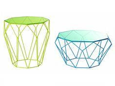 Gueridon et table basse Precious Roche Bobois  #origami #green & blue