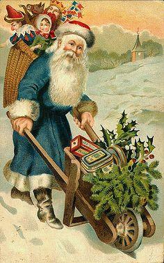 Blue father christmas