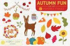 this weeks Freebie : Autumn Fun Fall Clip Art Graphic Design Illustration, Illustration Art, Illustrations, Creative Market Free, Snapchat, Web Design, Design Files, Design Art, Planner Organization
