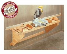 Miter saw stand. The best part is that it's collapsible.
