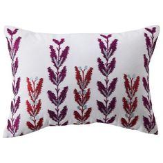 "Boho Boutique® Bombay Fleur Embroidered Decorative Pillow  - 16x16"""