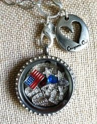 Origami Owl for the 4th of July.  What would your locket contain? Click on the pic to put your special locket together.