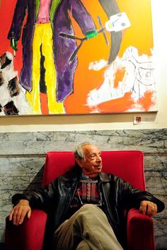 Former longtime manager Stanley Bard, in the lobby of the Chelsea. He was known for his lax leasing system, which allowed struggling artists to live and work in the hotel for decades., By Emmanuel Dunand/AFP/Getty Images.
