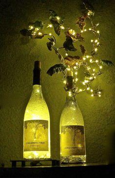 TWINS  Dreaming Tree Wine Bottle-Lamps