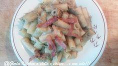 Rigatoni con Crema di Carciofi e Pancetta Croccante di Gloria KitchenUSA