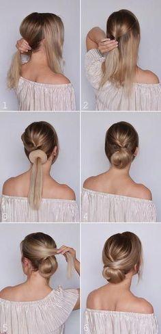 Ideas for braids updo tutorial simple Curly Hair Styles, Medium Hair Styles, Natural Hair Styles, Visage Halloween, Girl Halloween, Low Bun Tutorials, Hair Tutorials For Medium Hair, Simple Updo Tutorial, Chignon Tutorial