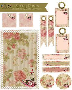 Imprimolandia: Free Scrapbook / Card embellishments