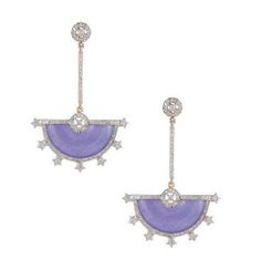 Hanut Singh Lavender Jade and Diamond Earrings