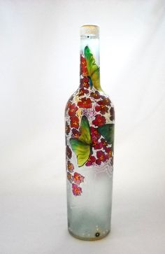 Bottle Art on Glass Hand Painted Butterfly by skyspirit8studios, $55.00 10 repins as of 5/10/13