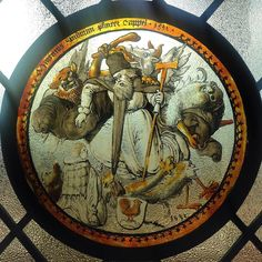 Stained glass roundel likely made in Schwabia depicting the temptation of Saint Anthony 1532 #glass #antique #stainedglass #saint #SaintAnthony #interiordecor #interiordesign #interiordecoration #interiors #antiques #Renaissance #SanAntonio #demon #NYC #NewYork #Manhattan #museum #NewYorkCity #Catholic #art #decorativeart #decorativearts #arte #design #Catholica #sacredart #horror #ilovemuseums #Hell #museums by dinoboy89