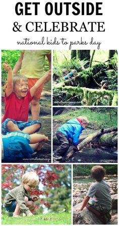 May is National Kids to Parks Day! Celebrate with these great ideas and a pledge to get outside with kids! Outside Activities For Kids, Camping Activities, Camping Ideas, Camping Hacks, Toddler Activities, Parks, Thing 1, Outdoor Fun, Outdoor Parties