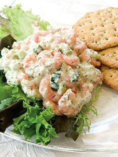 sour cream, shrimp salad, salad recipes, salad seafood, shrimp dishes, salads, seafood salad, crab, green onions