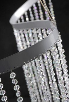 "Bendable Flexible  Crystal Curtains  35"" wide x 9 feet with 34 strings $45"