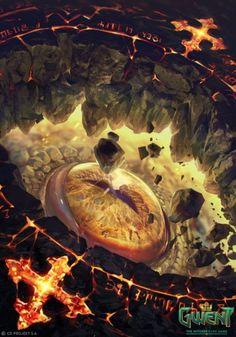 As ilustrações de fantasia para o game Gwent: The Witcher Card Game de Anna Podedworna