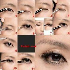 Asian single eyelid