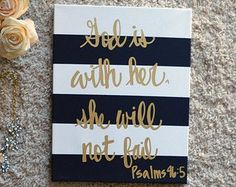 Hand Lettering Inspirational Canvas Painting by GoldenPaisley
