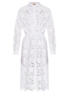 No. 21 Floral lace shirt dress
