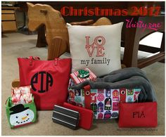 Christmas is coming to Thirty-One Gifts on October 1st 2017 ... Medium Utility Tote in Hello Holiday, Stackin' Jacksons in Dainty Dot, Littles Carry-All Caddy in Cool Cutie, Twice As Nice Tote in Chevron Dash, Keepin' Cozy Scarf in Chevron Dash, Total Beauty Trio in Deep Merlot Pebble, Rubie Mini in Rose Glow Pebble w/ Gems. Check out everything online at MyThirtyOne.com/PiaDavis or look in the upper right corner to select your consultant. #ThirtyOne #ThirtyOneGifts #31Gifts #31 #31Christmas