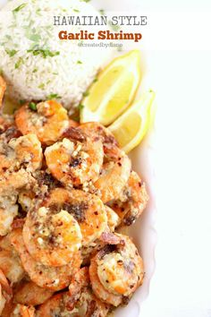 Hawaiian Style Garlic Shrimp (just like the shrimp trucks) garlic shrimp recipe food truck Hawaiian Garlic Butter Shrimp Grilled Garlic Shrimp, Hawaiian Garlic Shrimp, Garlic Butter Shrimp, Grilled Shrimp Recipes, Shrimp Recipes Easy, Fish Recipes, Seafood Recipes, Cooking Recipes, Garlic Shrimp Recipe Hawaii