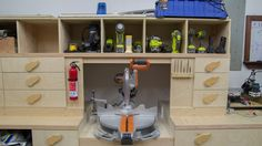 Miter Saw Station: Storage Boxes and Drawer Fronts