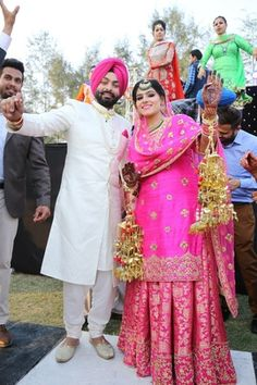 Looking for Fuchsia Pink Sikh Bride with Kaleere? Browse of latest bridal photos, lehenga & jewelry designs, decor ideas, etc. on WedMeGood Gallery.