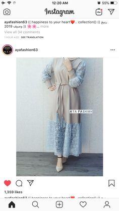 Modest Fashion Hijab, Modern Hijab Fashion, Abaya Fashion, Muslim Fashion, Stylish Dresses For Girls, Modest Dresses, Fashion Drawing Dresses, Fashion Dresses, Modele Hijab