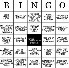 NCIS LA bingo while watching episodes (lol)