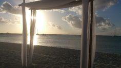 Foto op Aruba gemaakt vooraf trouwerij in december 2012.